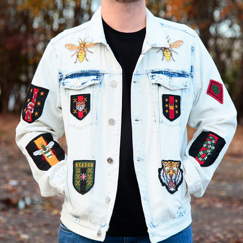 TIGERS DENIM JACKET - WHITE
