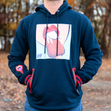 MEN  POP ART PULLOVER HOODIE - NAVY
