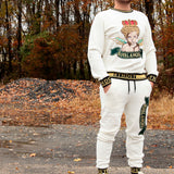 ROYAL ANGEL VELOUR CREW NECK PULLOVER - OFF WHITE