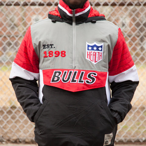 BULLS HALF ZIP  WINDBREAKER - BLACK/RED