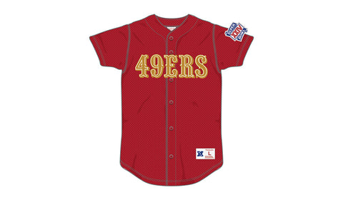 NFL MESH BUTTON FRONT JERSEY - 49ERS