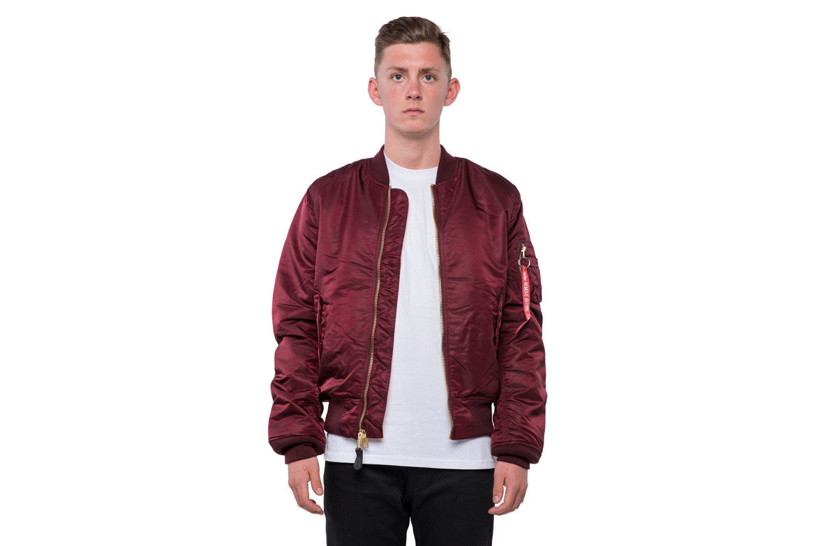 MA-1 SLIM FIT FLIGHT JACKET - MAROON