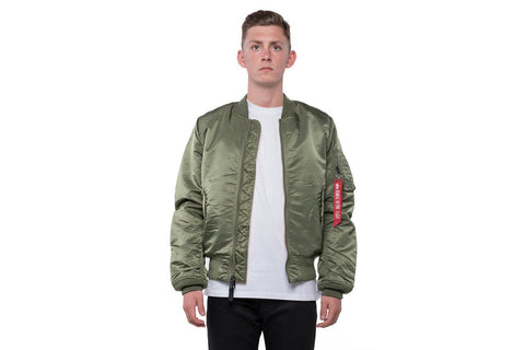 MA-1 SLIM FIT FLIGHT JACKET - SAGE