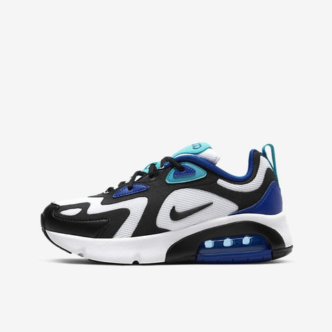 AIR MAX 200 (GS) - WHITE / HYPER BLUE / BLACK