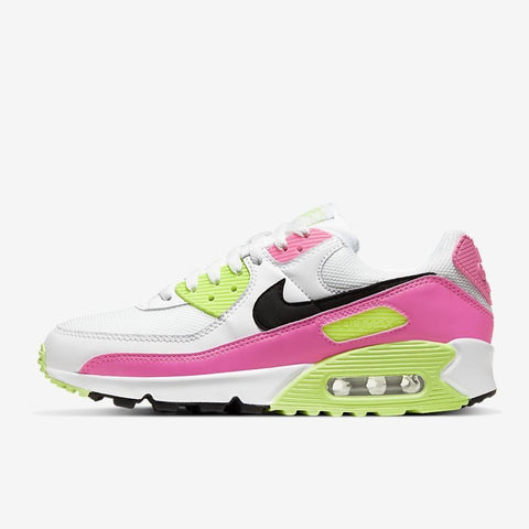 WMNS AIR MAX 90 - WHITE / PINK BLAST / GHOST GREEN