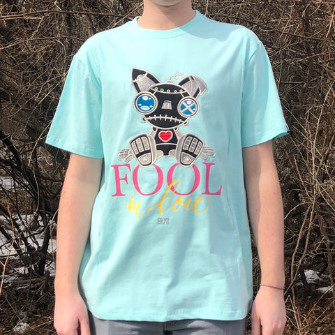FOOL IN LOVE TEE - AQUA