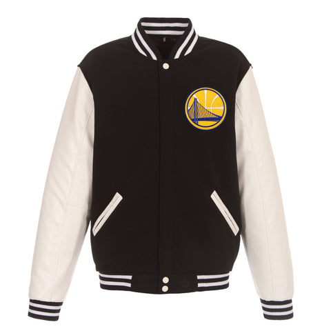 REVERSIBLE VARSITY JACKET - WARRIORS