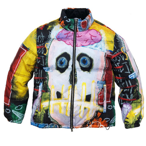 I WANT MY ROSES PUFFER JACKET - MULTI COLOR
