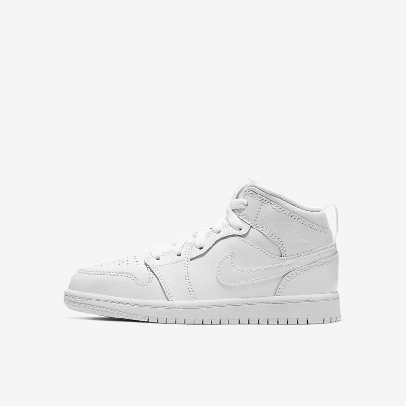 AIR JORDAN 1 MID (PS) - WHITE / WHITE