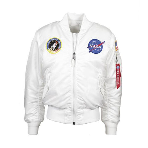 NASA MA-1 FLIGHT JACKET - WHITE