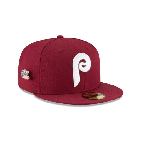 PHILADELPHIA PHILLIES 1980 WORLD SERIES PIN 59FIFTY FITTED -  RED