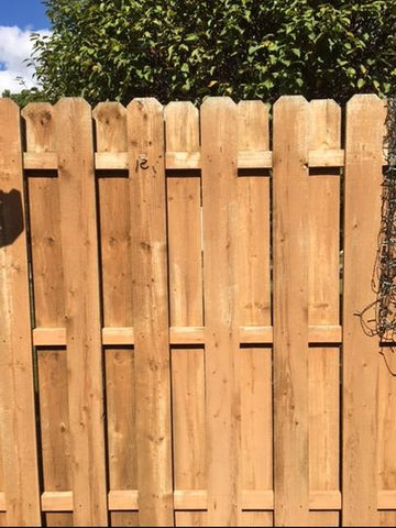 Wooden Fence after 30 SECONDS Outdoor Cleaner