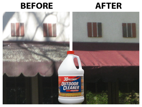 Clean Your Awnings With 30 Seconds Outdoor Cleaner
