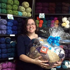 Winnner of LA Yarn Crawl Basket at Creative Ewe