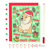 Turtle's Soup - Such Holiday Doge Meme Christmas Card - Creative Ewe