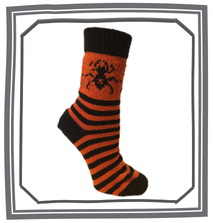 Jolly Creepy Crawly Sock Pattern -  - Creative Ewe - 1