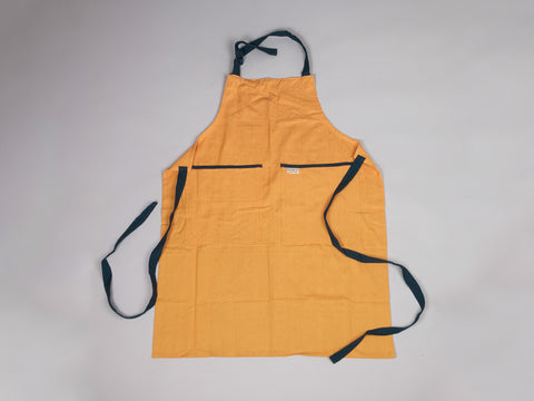 Yellow & Aqua large full apron by Sterck