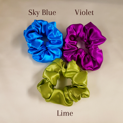 Satin Scrunchies - 3 Pack Oversized