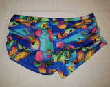 Yoga Short- Blue Butterfly