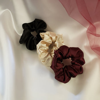 Satin Scrunchies - 2 Pack