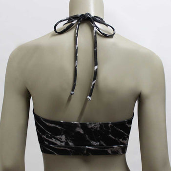 Halter Top- Black Marble