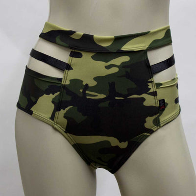 High Waisted Monroe Cutout Sexy Short- Camo