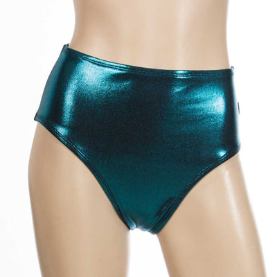 High Waist HeyHey and Co short-Turquoise Metallic
