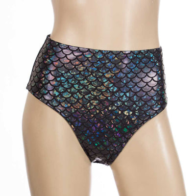High Waist HeyHey and Co short-Dark Mermaid/Dragon Scale