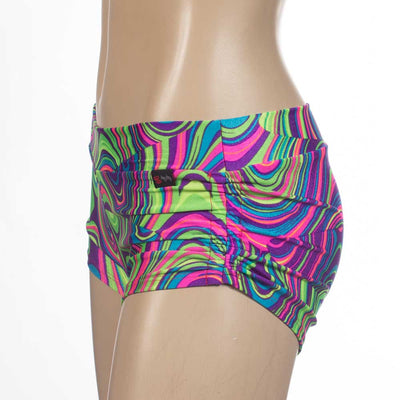 Side Scrunch/Side Tie Short/ Yoga Short-Groove - HeyHey & Co