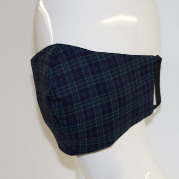 Mask- Blue/Green Plaid