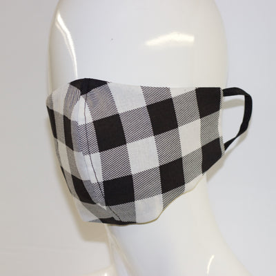 Mask- Black and White Check