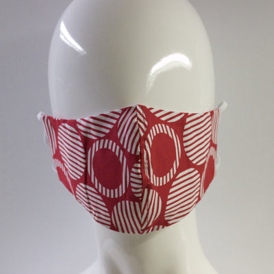 Mask- Red and White Circle