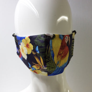 Mask- Navy Parrot