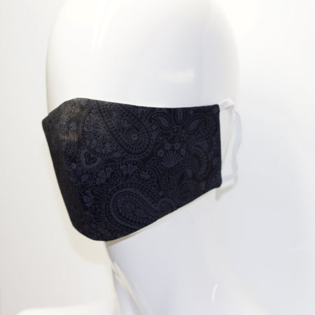 Mask- Black Paisley