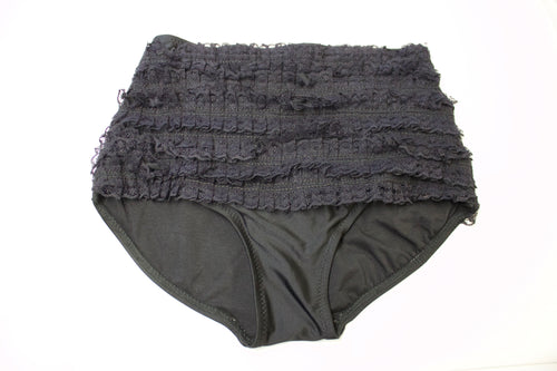High Waisted Short- Black Ruffle