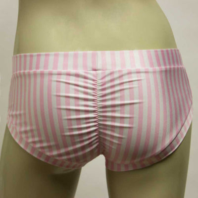 Booty Short- Pink and White Stripe