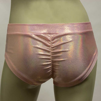 Booty Short/ Pole Dance Short/ Rave Short - Rose Gold Mystique