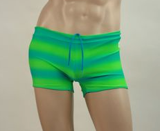 Men's Swim Short - Green Ombre