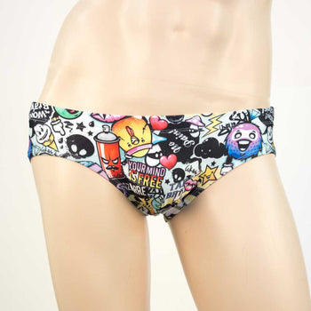 Men's Swim Brief - Graffiti - HeyHey & Co