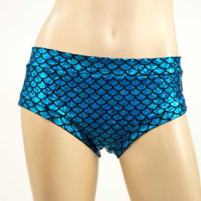 Booty Short/ Pole Short/ Rave Short- LG Turquoise Mermaid - HeyHey & Co