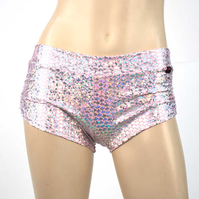 Side Scrunch Short/ Pole Short/ Rave Short - Pink Mermaid - HeyHey & Co
