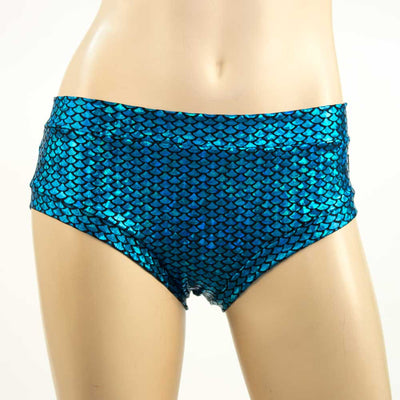 turquoise mermaid booty short by heyheyandco