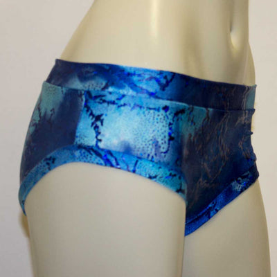 Booty Short/ Pole Dance Short/ Rave Short - Seascape