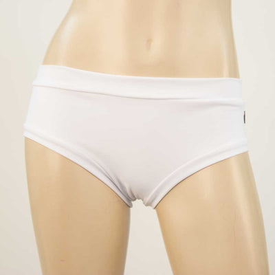 Booty Short/Pole Short//Rave Short/ Swim Bottom- All White - HeyHey & Co