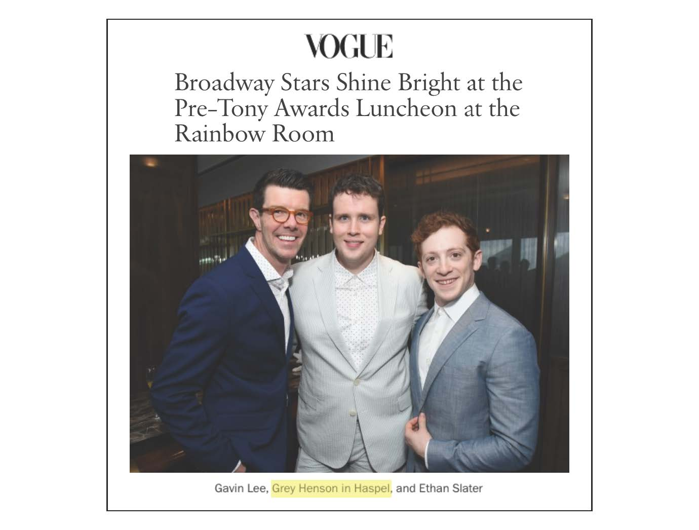 Haspel on stage at the Tony Awards | WWW.VOGUE.COM | MAY 2018