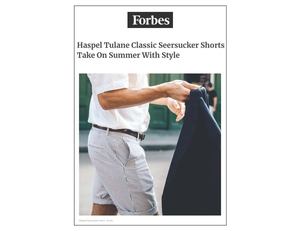 Forbes feature article on Haspel seersucker | FORBES.COM |  JULY 2018