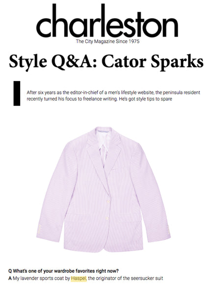 Haspel Lavender Seersucker feature | CHARLESTON MAGAZINE | OCTOBER 2018