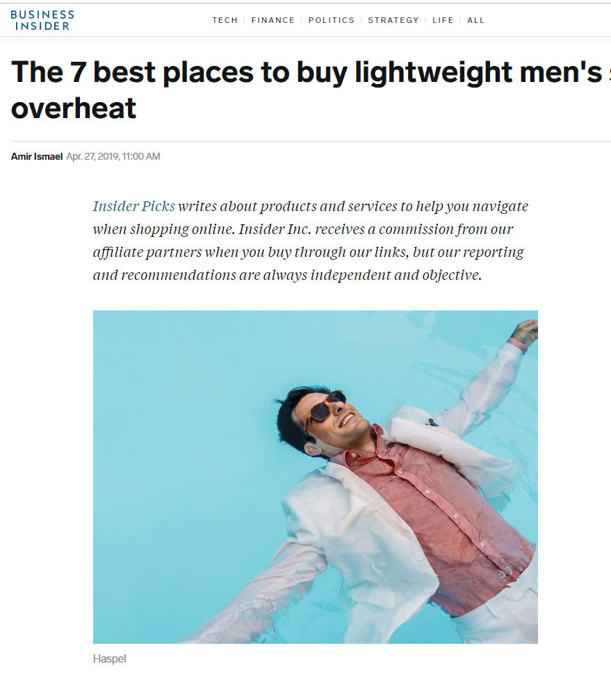 Best Places For Lightweight Men's Suits | BUSINESS INSIDER | APRIL 2019