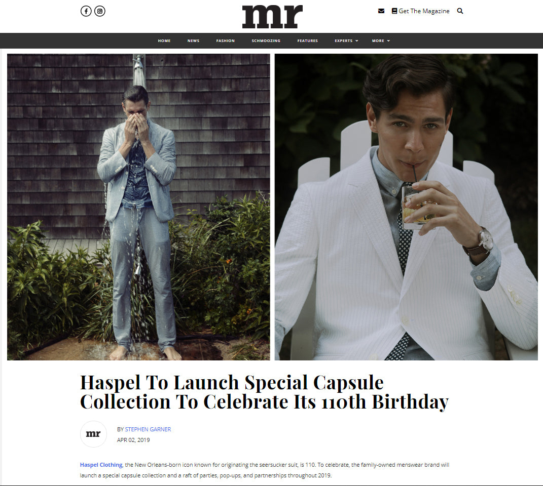 Haspel to launch special capsule collection for it's 110th birthday - Seersucker Suits