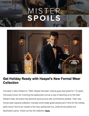 Get Holiday Ready with Haspel's New Formal Wear Collection | MISTER SPOILS | NOVEMBER 2019